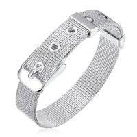 Wholesale Women Silver 925 Watch - Wholesale- 14MM Watch Band Men Bracelet 2017 Hot New Fashion Bracelet 925 Sterling Silver Jewelry Wholesale Women Wedding Bracelet Pulseira