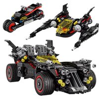 Wholesale Batman Motorcycle - Lepin 07077 Batman Movie The Ultimate Batmobile Bat Motorcycle Fighter Building Blocks Bricks Toys Gift For Children 70917