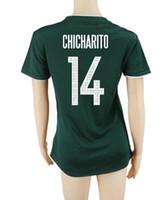 Wholesale Mexico Jersey Cheap - Customized Mexico Women home Green 14 Chicharito Soccer Jerseys shirts,Cheap 9 R.Jimenez 15 MORENO 7 M.LAYUN Thai Quality Football Jerseys