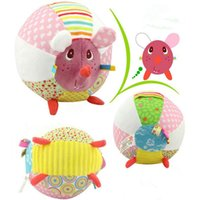Wholesale Christmas Bells For Sale - Cute Fabric Fun Baby Rattle Bell Ball Plush Stuffed Doll Toy For Infant Kids hot sale