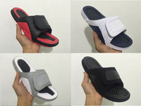Wholesale Heels Retro White - Wholesale New Hydro XII Retro 12 slippers Black white sports men basketball shoes casual sneakers high quality Sandy beach shoes size 36-47