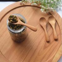 eiscreme großhandel großhandel-Japan-Art-kleiner hölzerner Löffel für Tee-Eiscreme-Milch-Puder, hölzerne Küche-Werkzeuge Natürlicher und umweltfreundlicher Großverkauf