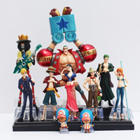 Wholesale One Piece Ships Figurines - 10 pieces   set Anime One Piece Figurine Collection 2 YEARS LATER Luffy nami roronoa Zoro Hand made dolls Free Shipping