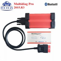 Wholesale tcs cdp bluetooth - Wholesale- With Bluetooth Tcs CDP VCI Diagnostic Tool Multidiag Pro+ V2015.R3 TCS CDP PRO PLUS For Cars Trucks Multi Diag Pro+ Multi-Diag