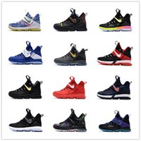 Wholesale Kids Basketball Shoes Sale - 2017 New Arrival James 14s Rio Luminous Coast Men Kids Women Basketball Shoes for Cheap Sale 14 XIIII Sports Training Sneakers Size 36-46