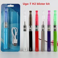 Wholesale Electronic Cigarette Ce6 Blister Pack - electronic cigarette Ugo T V GS H2 mt3 blister starter Kits Micro usb charge Better then Ego T evod MT3 CE4 H2 CE6 blister pack starter kit