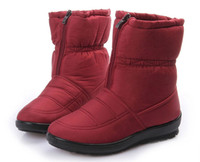 Wholesale Flexible Cloth - The New Winter Waterproof Flexible Cube Woman Boots High Quality Cozy Warm Fur Inside Snow Boots Winter Shoes Woman