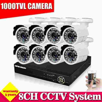 Wholesale Dvr Recorder Channel 3g - CCTV 8 channel 1080P 1080N AHD-NH DVR security system 8pcs 1000tvl video Surveillance camera dvr Recorder hdmi 1080p NVR 3G Wifi