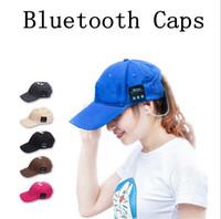 Wholesale Wireless Speaker Ball - Summer Wireless Bluetooth Music Caps Headphone Sports Baseball Cap Handsfree Headset Sun Hat Music Headphone Speaker OOA1853