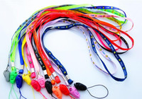 Longueur 45cm Sourire Pendentif Cordon Collier accroché Téléphone Ligne Téléphone cellulaire Courroies Courroies de carte Corde Office Suppiler Breastpiece Hang Rope 500pcs