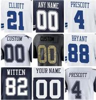 43f064b37 Baseball Unisex Short Cheap American Football Jerseys Ezekiel Elliott Dak  Prescott Jason Witten Dez Bryant Throwback
