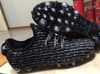 Wholesale Men Discount Bag - Discount Kanye West 350 Football Boots Mens Sneakers Soccer Cleats Men Soccer Shoes High Quality Football Boots Trainer Send Original Bag!