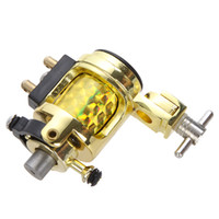 Wholesale Golden Gun Tattoo Machine - Silent Golden Motor Rotary Tattoo Gun Machine 10 Coils Free Shipping for Liner and Shader H8766