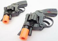 Wholesale Plastic Revolver - Military Police Guns 2X Snub-nosed Revolver Detective Cap Gun Toy Pistol