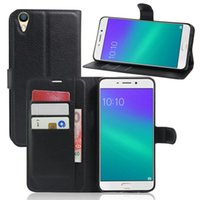 Wholesale Oppo Black - OPPO R9 Plus Case Cover Protector Cases For OPPO R9 Plus Magnetic Flip Leather Stand Cases Covers Holster