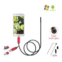 Endoscope 7MM Waterproof 2M Endoscope HD USB Android Endoscopio Camera 2IN1 Android Borescope USB Endoskop Inspection Cam Tube Pipe Camera