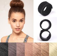 Wholesale hair updo buns - Hair Bun Maker Updo Fold Wrap Snap Styling Tool Makeup Stick Hair Accessories Clips Multi Color