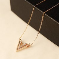 Wholesale Diamond Letter Initials - N120 letter V Famous Luxury Brand Designer Fashion Charm Jewelry Necklace 2017 New short Neckless Women jewlery