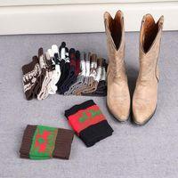 Wholesale 12 Pairs Christmas Socks - Women Winter Knitted Leg Warmer Socks Christmas Elk Deer Boot Cover Cuffs Gaiters Short Socks 20 Styles 100 Pairs OOA3623