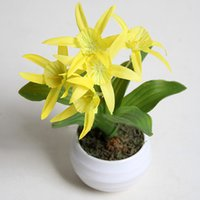 Wholesale Wholesale Garden Supplier - Plastic Planters Garden Suppliers Simulation Plants Narcissus Small Potting Flower Decorated Multiple Colors Household Adornment