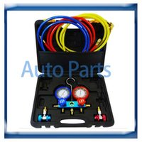 Wholesale Auto Air Condition Compressor - manifold gauge set R134a 134a R22 R12 R410a for auto air conditioning tool