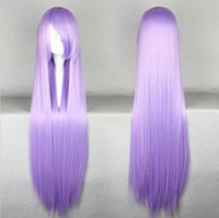Wholesale Lavender Cosplay Wig - MCOSER Free Shipping New Style Halloween Gin Tama Sarutobi Ayame Beauty Lavender Purple Long Straight Cosplay Wig