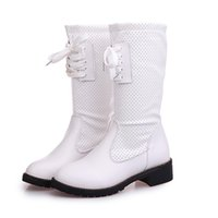 Wholesale Cheap Paint China - winter hot selling female women boots cheap two colour white black botas hot selling china brand winter boots martin boots