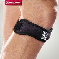 Wholesale Neoprene Cap - 2017 WINMAX professional Kneepad Black Neoprene Gel Knee Protector Pads Support Braces Strap Pain Cap For All People