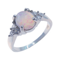 Wholesale Mens Ring Opal - New fashion jewelry australian wholesale opal jewelry mens pink opal rings DR01407159R Size7.8 1pc Freeshipping