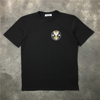 Wholesale Trendy Top Hip T - Newest Fashion Embroidery badges rattlesnakes pentagram T-Shirt Summer trendy Mens Hip Hop Short Sleeve Tee Tops Clothing