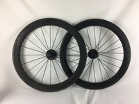 Wholesale Top Carbon Road Bicycle Brands - NEW arrival Top brand 38+50mm clincher tubular carbon wheelset, 700C road bike full carbon bicycle wheels freeshipping