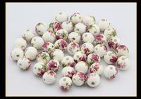 Wholesale Diy Loose Ceramic Beads - Hot Loose Beads Round Ball Ceramic Bead 3mm Hole For Strip Bracelet DIY 100pcs Lot 4 Sizes Drop Shipping