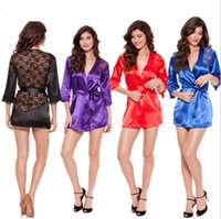 Wholesale Halter Open Crotch Teddy - Lace Sexy Lingerie Open Crotch Leotard Teddy Nightwear Lace Miniskirt Babydoll Sexy Sleepwear Chemise Outfits Halter out045