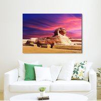 Wholesale Egypt Canvas - ART Sphinx Egypt Boutique Letters Canvas (No Frame) Art Print Poster Wall Pictures for Home Decoration