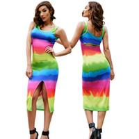 e2ed3140c60 Tropische amouröse Gefühle öffnen Gabel Farben drucken reizvolles langes  Kleid schönes Kleid reizvolles Verein-Partei-Kleid geben Verschiffen frei