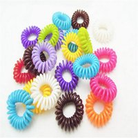 Wholesale Hair Accessories Telephone - Plastic Hair Band Telephone Cord Phone Strap Hair Band Rope for Women Accessories Hair Accessory Ponytail Holder DHL Free