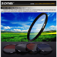 Wholesale Zomei Graduated Filter - ZOMEI 52mm Ultra slim Graduated Grey Blue Orange Red Filter kit for Canon Nikon