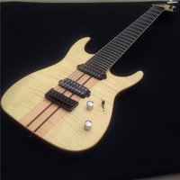 Wholesale Ash Guitars - Hot sale A machuiran ash body and 8 strings electric guitar,With 24 Tone Postion and Black hardware,free shipping