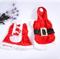 Wholesale Christmas Hoodie For Dog - New Santa Dog Costume Christmas Pet Clothes Winter Hoodie Coat Clothes for Dog Pet clothing dress XXS