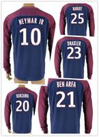 Wholesale Cheap Long Sleeve Soccer Jerseys - customized long sleeve 10 Neymar Jr Thai Quality Soccer Jersey,cheap custom 17-18 mens 6 VERRATTI 7 LUCAS 9 CAVANI 11 DI MARIA Soccer Wear
