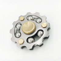 Wholesale Wholesale Spinning Wheels - Premium Hot Wheel Metal Fidget Spinner Ceremic Bearing 5min Spinning CE RoHs EN71 Brass SUS Machined 6 Steel-Balls EDS Metal Spinners