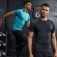 Gym Base Layer Linee di colore T Shirt Fitness Camicie rapide T Shirts Tops T-Shirt Sport Compression Shirt S-XXL