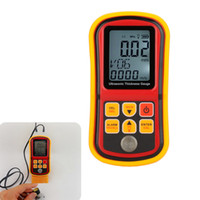 Wholesale Ultrasonic Thickness Meter Gauge Velocity - Freeshipping Digital Ultrasonic Thickness Gauge Depth Gauge Sound Velocity Meter Measuring Range 1.00~300mm With LCD Backlight