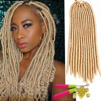 Wholesale hair 33 for sale - Finest quality crochet braids synthetic hair for black women soft faux locs kanekalon synthetic braiding hair havana mambo faux locs crochet