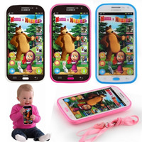 Langage Électronique Parlant Pas Cher-Talking Masha Bear Phone Dolls Learning Education Russian English Language Baby Mobilephone Electronic Kid's Toy Phones
