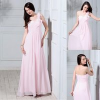 2018 New Designer One Shoulder Baby Pink Homecoming Dress Popolare abito da damigella d'onore abito da sposa abito da ballo di promenade