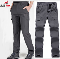 Wholesale Fast Casual Wear - Wholesale- mens Soft shell tactical pants scratch resistant, water-resistant, wear-resistant Fast Drying fleece warm men casual cargo pant