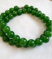 Wholesale Nephrite Jade Beads - And nephrite jasper bead necklaces spinach green female models 6mm jade necklace chain