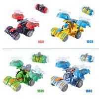 Wholesale Electronic Model Toys - 10pcs Deformation toys chariots Figure Model KitsDolls Brick Toys Wizard war call Explosive Car capsule Aircraft Dolls