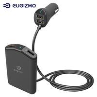 soporte del cargador para la tableta al por mayor-Cargador rápido para automóvil de 4 puertos Smart IC Cargador rápido rápido Cargador rápido para iPhone® iPod Smartphones Tablet PC